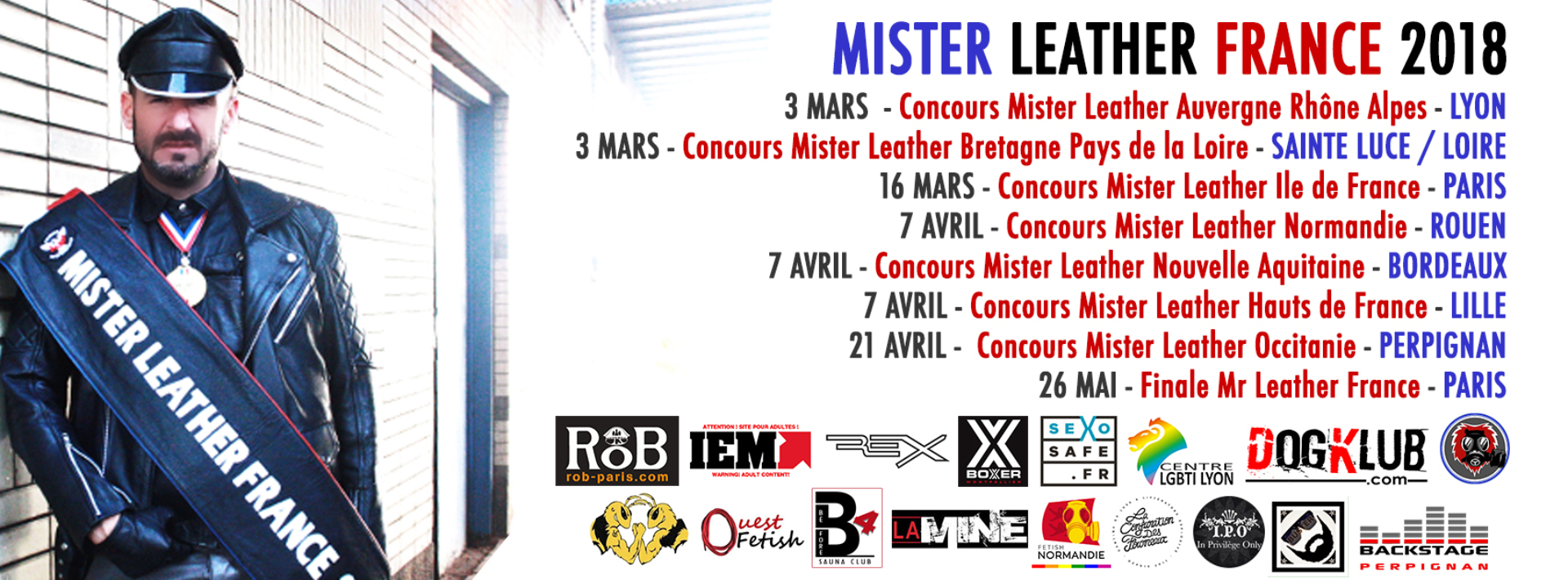 MISTER LEATHER FRANCE TOUR 2018