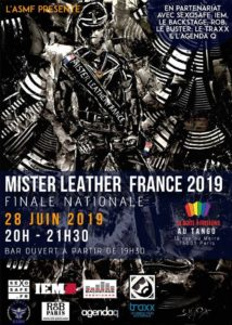 Affiche Election Mister Leather France